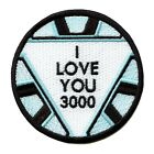 I Love You 3000 Round Logo Embroidered Iron On Patch
