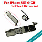 Original Main Motherboard Unlocked Touch ID Logic Board For iPhone 5SE Gold 64GB