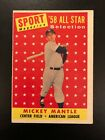 1958 Topps Mickey Mantle All-Star #487 Yankees
