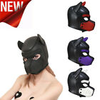 Sexy Cosplay Role Play Dog Full Head Mask Soft Padded Latex Rubber Puppy US