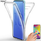 For Samsung Galaxy S10 Plus M30 A50 360 Clear Soft Transparent Phone Case Cover