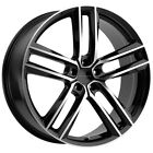 4 Milanni 475 Clutch 18x85 5x112 +38mm Black Machined Wheels Rims 18 Inch