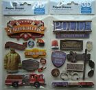 FIRST RESPONDERS Paper House LOT of 2 Stickers Brand NEW Firefighter Police