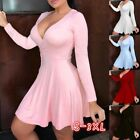 Womens Summer Sexy Dresses Deep V Neck High Wasit Bodycon Dresses Plus Size