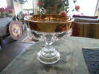 INDIANA GLASS KINGS CROWN GOLD RIMMED 7 1/4