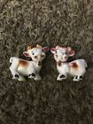Vintage ANTHROPOMORPHIC Cow SALT  PEPPER Shakers