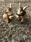 Vintage Ceramic Donkeys Salt and Pepper Shakers Made In Japan