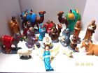 Vintage 1960s Large NATIVITY SET Holland Mold Ceramic 18 Pieces Excellent