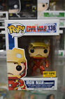 Funko Pop! Iron Man Unmasked #136 Hot Topic Exclusive Civil War Soft Protector