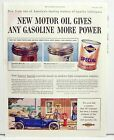 Sunoco Motor Oil Ad Gives more Power 1954