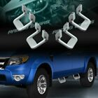 4 X SILVER TEXTURE COATED DIE CAST ALUMINUM TRUCK SUV PICKUP NERF SIDE STEP BAR