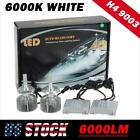 2x H4 HB2  6000Lumen Headlight Dual Beam Xenon 6500K White Detachable LED