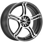 4 Konig 48A Incident 16x7 4x100 4x108 +40 Graphite Machined Wheels Rims 16 Inch