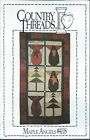 COUNTRY THREADS 418 Sew Pattern MAPLE ANGELS Wall Quilt 18 Christmas