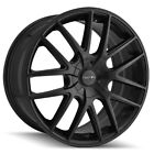 4 Touren TR60 17x75 5x100 5x45 +42mm Matte Black Wheels Rims 17 Inch