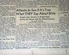 GONE WITH THE WIND Movie Film Premieres Atlanta Georgia Day Of 1939 Newspaper