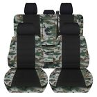 2019 Ford F150 Truck Seat Covers Front Rear Set Camo Pattern Black Center Abf