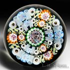 PaperweightPaul Ysart patterned millefiori faceted glass paperweight