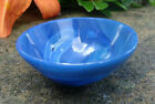 Hand Carved Semi Precious BLUE ONYX Gemstone Open Salt Dip Cellar Dish