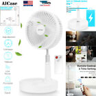 7 Adjustable Pedestal Fan Stand Floor USB Rechargeable 4 Speed Air Cooling Fan