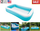 Large Inflatable Swim Center Lounge Family Pool Kids Water Play Fun Backyard NEW