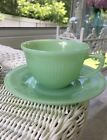 Saucer JADEITE Jadite JANE RAY Ribbed USA Green