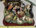 Large Christmas Nativity Set Stable with stationary Resin Figurines OR18