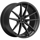 4 Konig 37B Oversteer 17x8 5x45 +35mm Gloss Black Wheels Rims 17 Inch