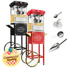 Vintage Style Popcorn Machine Maker Popper with Cart and 10 Ounce Kettle