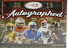 2019 Sage Autographed Football Hobby Box 21 Autos Numbered Parallels Autograph