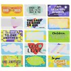 60 Pack Kids Motivational Religious Lunch Box Note Cards with Bible Verses