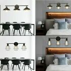 3 Light Vintage Industrial Metal Wall Sconce Lamp Fixture Bowl Cage Shade Vanit