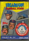 1990 Topps 24 pack box of Head Up baseball cards