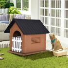 Indoor Outdoor Dog House Large to Small Pet Doghouse Puppy Shelter 2 Colors