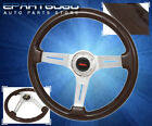 For Nissan 2 Deep Dish Center Steel Polished Wood Grain Steering Wheel Brown