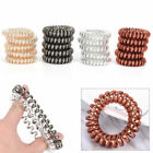 12Pcs Girl Rubber Telephone Wire Hair Ties Spiral Slinky Hair Head Elastic Bands