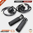 Black Motorcycle 1 Handlebar Hand Grips + Switch Controls Housing for Harley