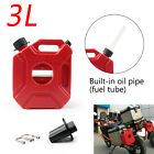 Motorcycle 3L Jerry Cans Gas Diesel Fuel Tank For Car with Lock+Mounting TT