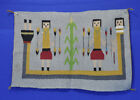 Navajo Yei Rug Weaving Corn Plant with Rainbow Yei c 1980