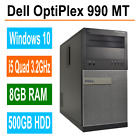 Dell optiplex 9010 MT Desktop PC i5 Quad 32GHz 8GB Ram 500GB HDD Windows 10