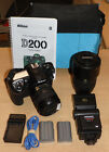 Nikon D200 10.2MP Digital SLR Tamron 70-300mm Lens & Accessories
