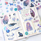 6Sheets Pack Kawaii Stationery Stickers Cute Whale Stickers LovelyPaper Stickers