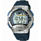 CASIO DIGITAL STOPWATCH LED LIGHT MOON FACE ALARMS MEN'S WATCH W-753-2A NEW