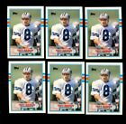 1989 TOPPS TRADED #70T TROY AIKMAN RC HOF LOT OF 10 MINT F162259