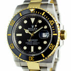 ROLEX - 2019 NEW 18kt Gold & SS Submariner Black Dial Card 116613 - SANT BLANC