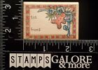 RUBBER STAMPEDE RUBBER STAMPS A1453D CHRISTMAS TO FROM LABEL GINGERBREAD MAN