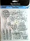 Happy Birthday Cake Candles Clear Acrylic Stamp Set by Recollections 119936 NEW