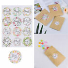Floral Flower Baking Package Paper Stickers Thank You Packaging Sealing Sticker