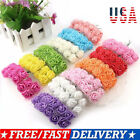 US 144 x Mini Foam Rose Fake Flower Heads For Home Wedding Party Decor