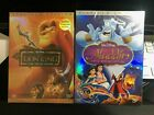 The Lion King + Aladdin 2 DVD Bundle DVD 2003 Platinum Edition All New